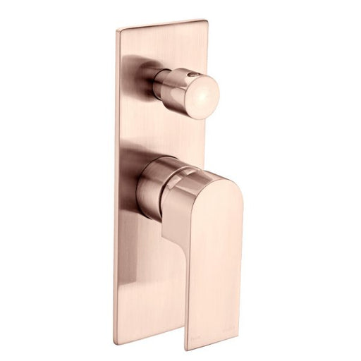 Nero Vitra Shower Mixer with Diverter - Brushed Rose Gold online at The Blue Space