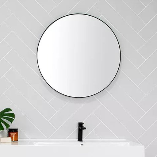 ADP Alora Round Mirror with black metal frame 700mm online at The Blue Space