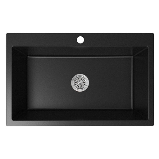 ADP Bellevue Large Rectangular Matte Black Kitchen Sink at The Blue Space