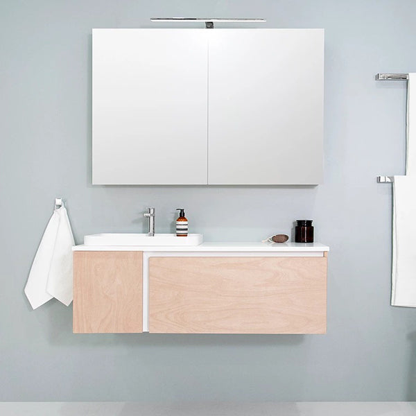 ADP Edge Vanity 900mm - 1500mm in birch ply natural finish
