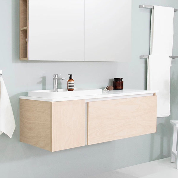 ADP Edge Vanity 900mm - 1500mm in ply wood at The Blue Space