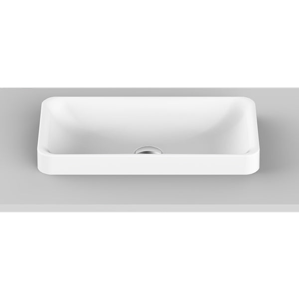 ADP Faith Solid Surface Basin 495mm for short projection vanities