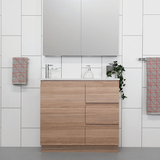 ADP Glacier Quartz Ensuite Trio Vanity 600mm - 1800mm by ADP - The Blue Space