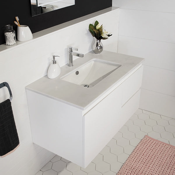 ADP Glacier Quartz Twin Vanity 750mm - 1800mm by ADP - The Blue Space