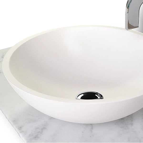 ADP Karma Round Above Counter Basin in Gloss or matte white  at The Blue Space