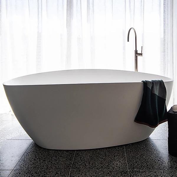 ADP Tranquil Matte Finish Freestanding Bath 1560mm, luxurious freestanding bath at The Blue Space