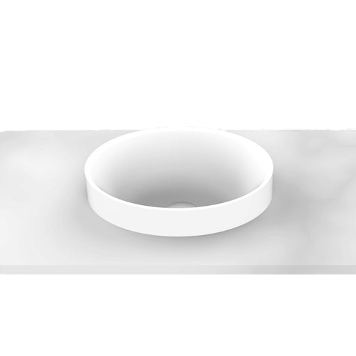 ADP Joy Semi Inset Solid Surface Basin for small bathrooms at The Blue Space