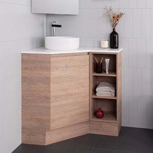 ADP Emporia Corner Vanity With Shelf