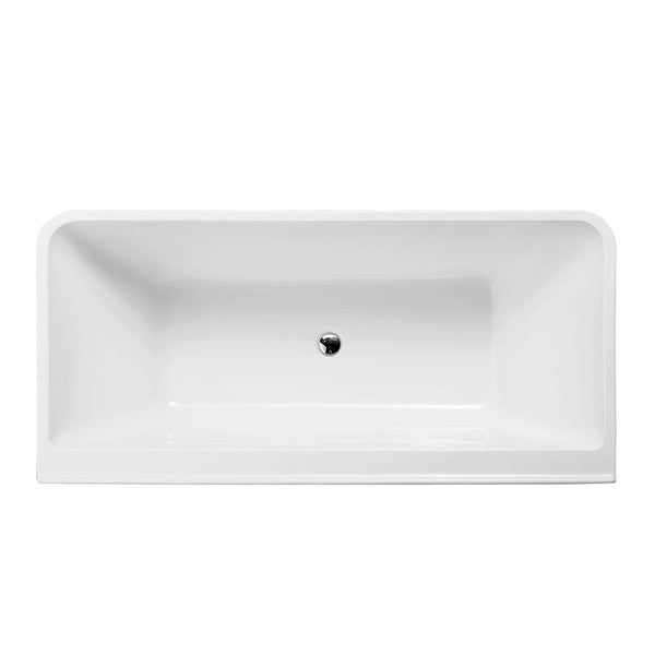 Decina Aria Back-To-Wall Freestanding Bath