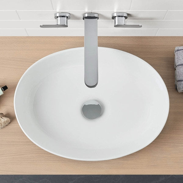 Caroma Artisan Above Counter Basin Oval 510mm The Blue Space