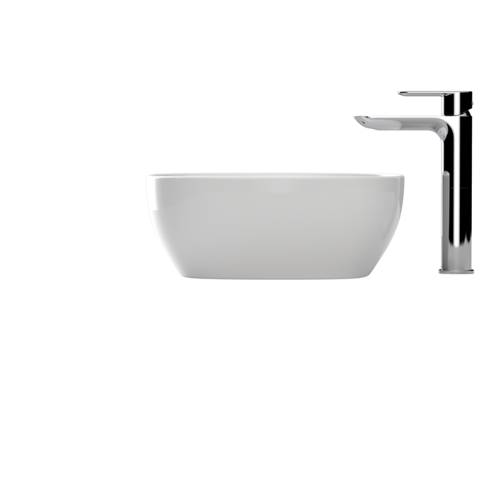 Caroma Artisan Above Counter Basin- Curved Rectangle 500mm by Caroma - The Blue Space