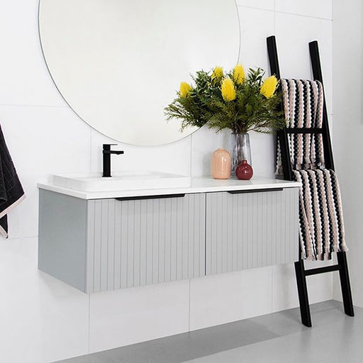 ADP Ashley Vanity in matte grey 600mm to 1800mm - The Blue Space