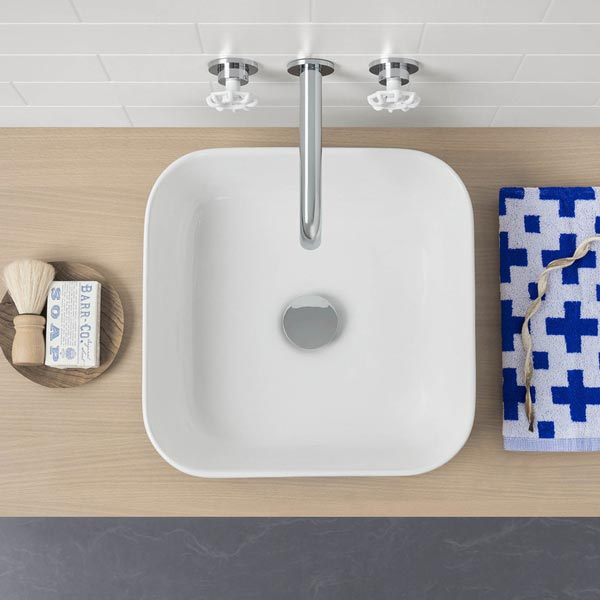 Caroma Artisan Above Counter Basin- Square 390mm by Caroma - The Blue Space