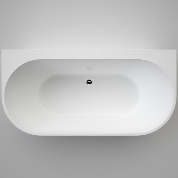 Caroma Aura Back to Wall Freestanding Bath by Caroma - The Blue Space