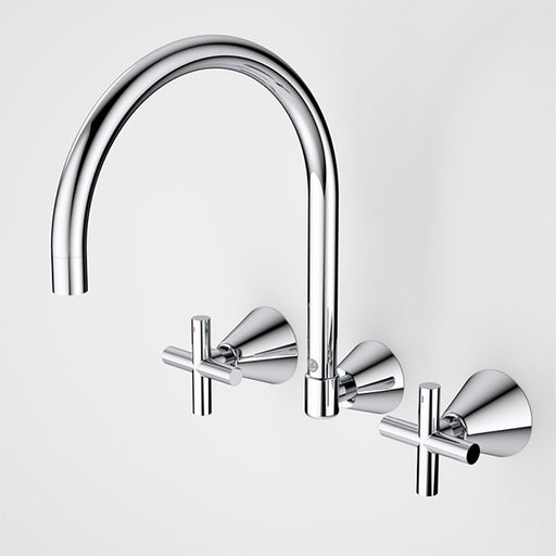 Caroma Coolibah Classic Cross Laundry Tap Set by Caroma - The Blue Space