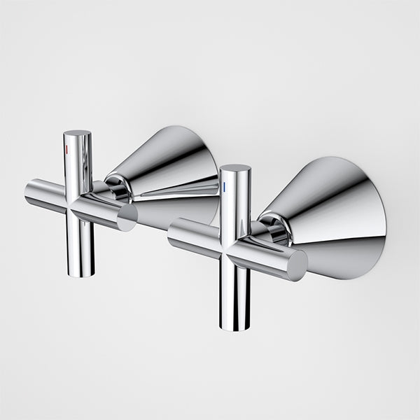 Caroma Coolibah Classic Cross Wall Handle Set by Caroma - The Blue Space