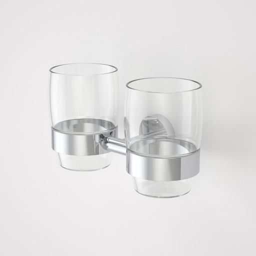 Caroma Cosmo Metal Tumbler Holder - Double by Caroma - The Blue Space