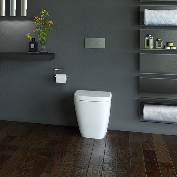 Caroma Cube Wall Faced Invisi Series II Toilet Suite by Caroma - The Blue Space