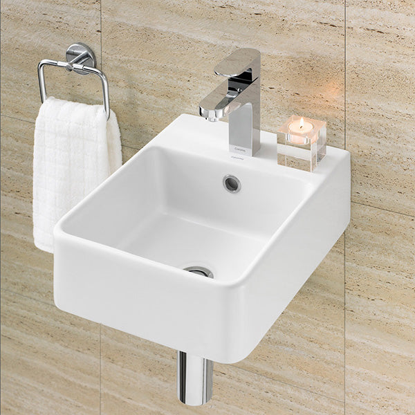 Caroma Cube Hand Wall Basin by Caroma - The Blue Space