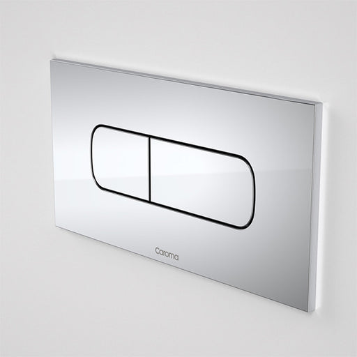 Caroma Invisi Series II Metal Oval Dual Flush Plate & Buttons by Caroma - The Blue Space