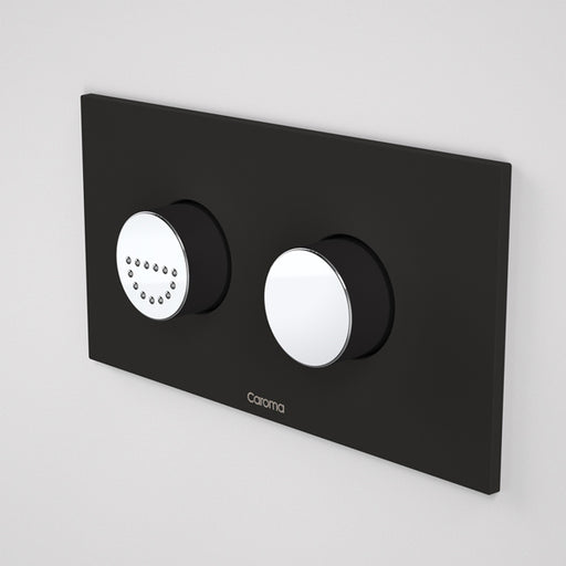 Caroma Invisi Series II Round Dual Flush Plate & Raised Care Buttons - Midnight Dream by Caroma - The Blue Space