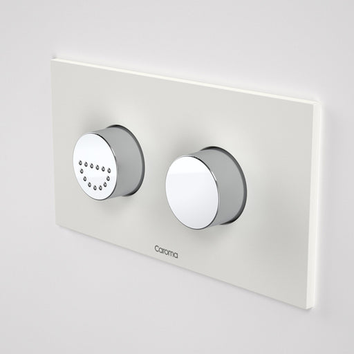 Caroma Invisi Series II Round Dual Flush Plate & Raised Care Buttons - Morning Glow by Caroma - The Blue Space