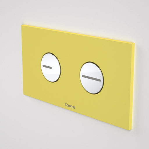 Caroma Invisi Series II Round Dual Flush Plate & Buttons - Spirited Yellow by Caroma - The Blue Space