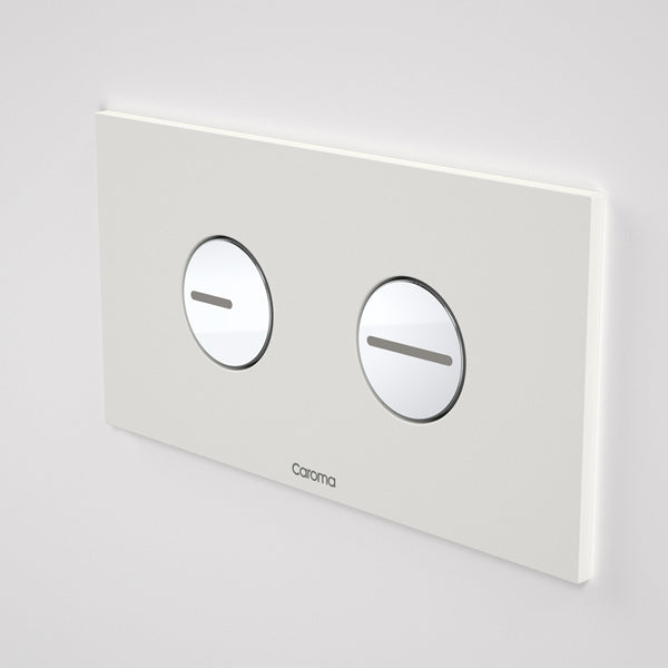Caroma Invisi Series II Round Dual Flush Plate & Buttons - White by Caroma - The Blue Space
