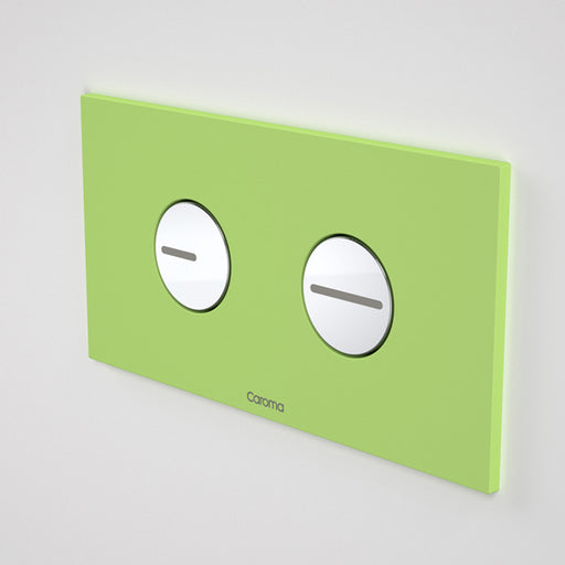 Caroma Invisi Series II Round Dual Flush Plate & Buttons - Fresh Green by Caroma - The Blue Space