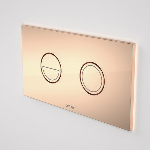 Caroma Invisi Series II Round Dual Flush Metal Plate & Buttons Metallic - Copper by Caroma - The Blue Space