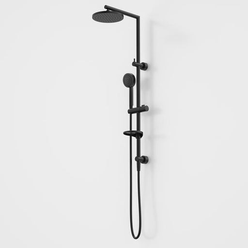 Caroma Liano Nexus Multifunction Rail Shower with Overhead-Black by Caroma - The Blue Space