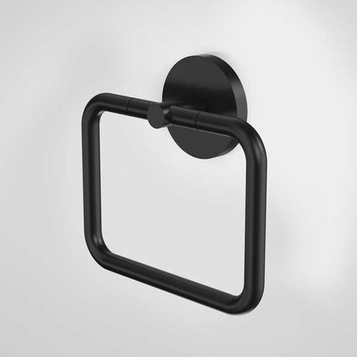 Caroma Liano Towel Ring-Matte Black by Caroma - The Blue Space