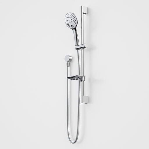 Caroma Pin Multifunction Rail Shower-White/Chrome