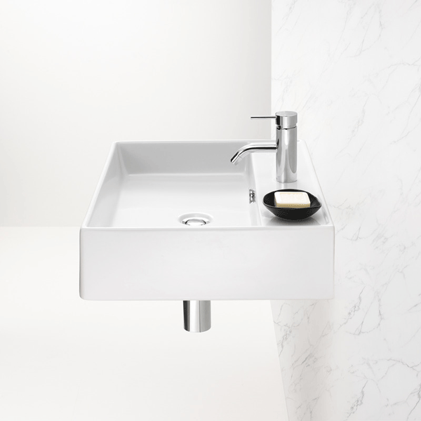 Caroma Teo 600 Wall Basin Technical Drawing - The Blue Space