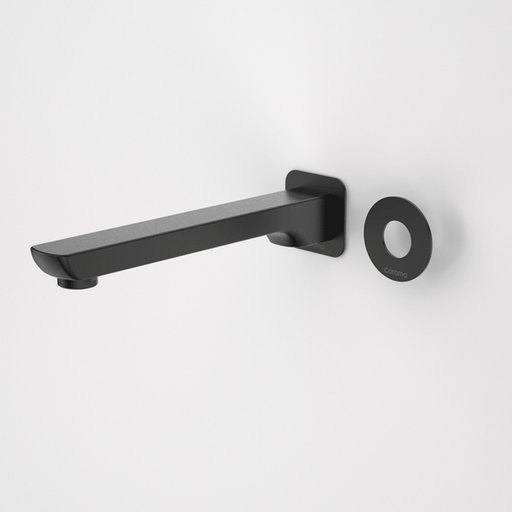 Caroma Urbane Bath Outlet Matte Black 200mm