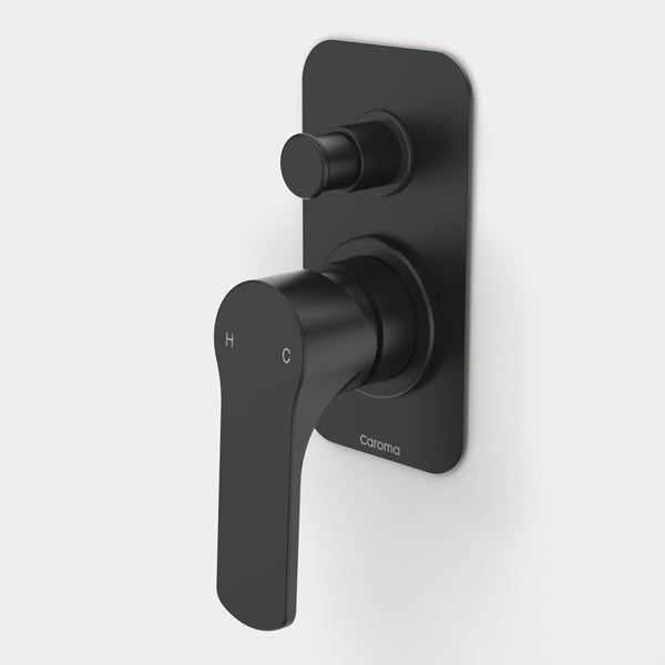 Caroma Urbane Bath/Shower Mixer with Diverter-Matte Black