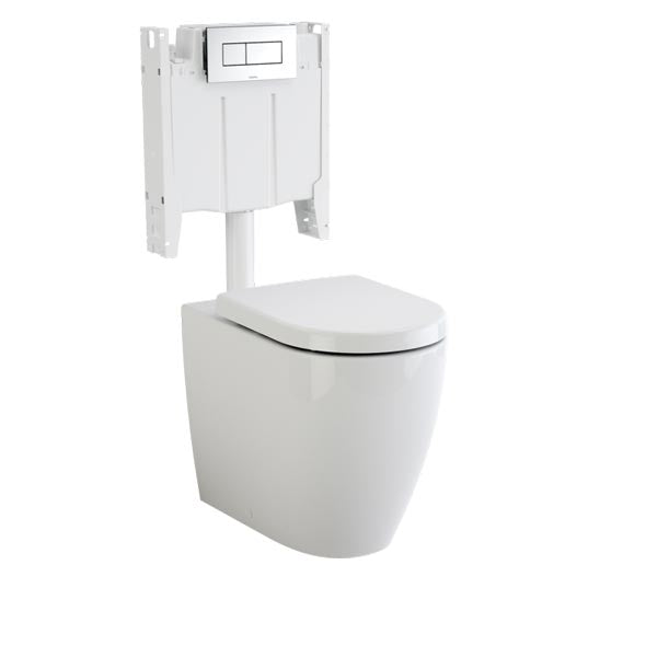 Caroma Urbane Cleanflush Wall Faced Invisi Series II Toilet Suite at The Blue Space