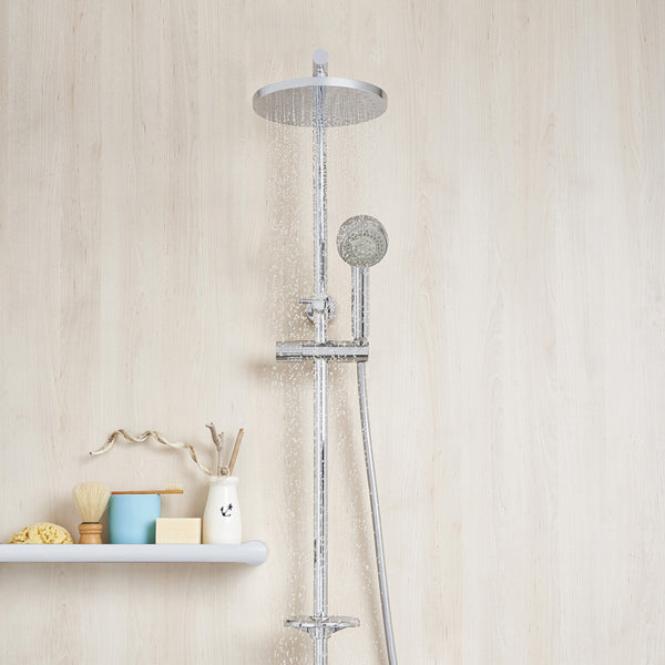 Caroma Urbane Multifunction Rail Shower with Overhead