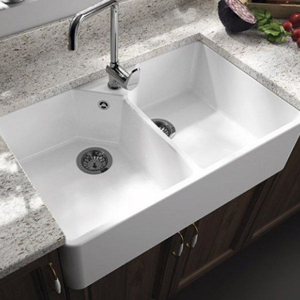 Turner Hastings Chester Double Flat Front Fine Fireclay Butler Sink