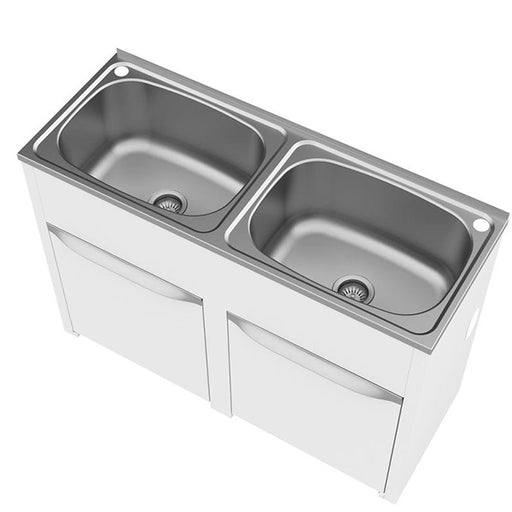Clark Eureka Double 45 Litre Laundry Tub and Cabinet