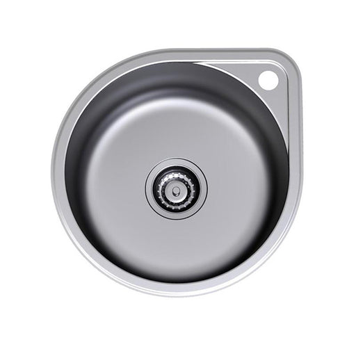 Clark Round Bowl Overmount Kitchen Sink with Tap Landing - The Blue Space