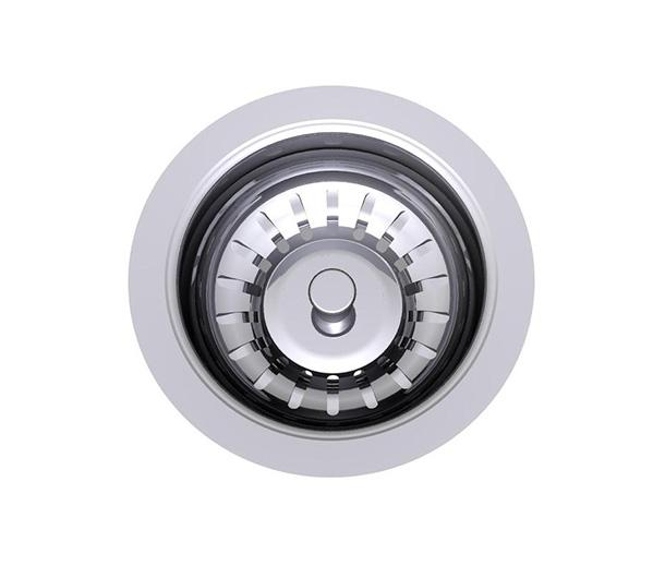Clark Round Bowl Overmount Kitchen Sink with Tap Landing