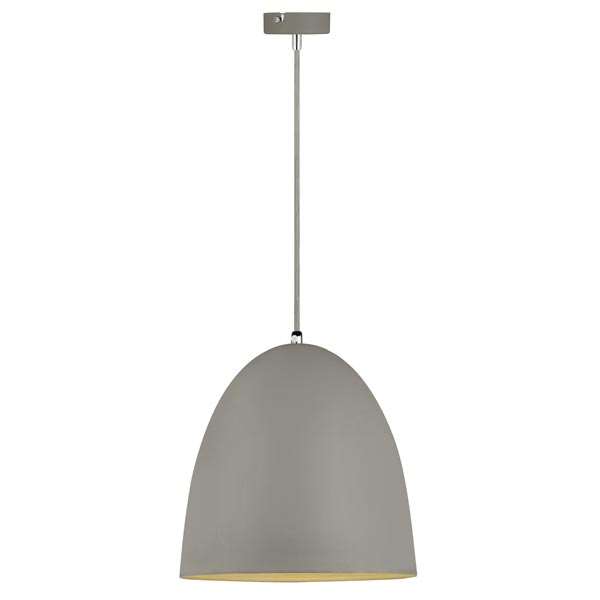 Crompton Husk Medium Round Metal Pendant-Grey