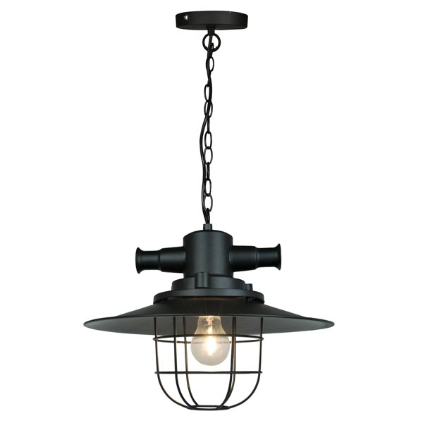 Crompton Revolve Small Metal Industrial Cage Pendant