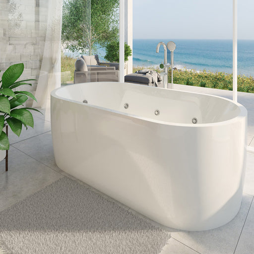 Decina Elisi Freestanding Contour Spa Bath 1700mm online at The Blue Space