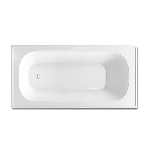 Decina Giorgia Pressed Metal Bath top view - The Blue Space