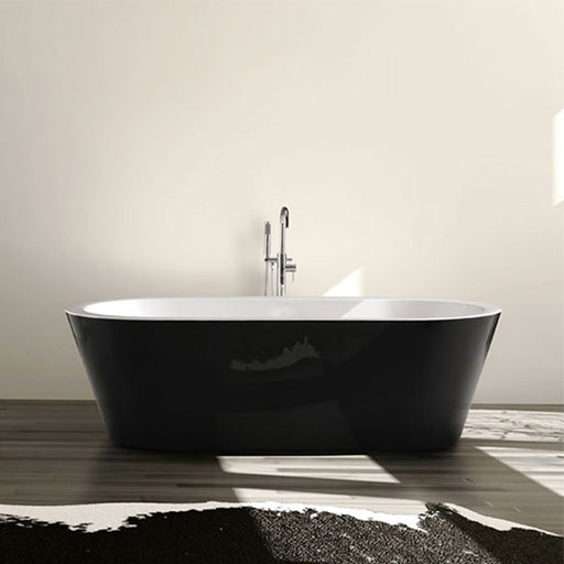 Decina Kolora Freestanding Bath black bath modern style - The Blue Space