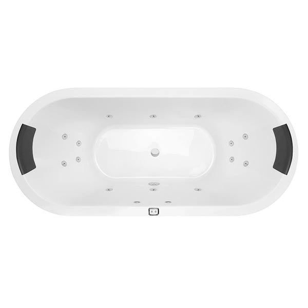Decina Lido Contour Spa Bath with jets and headrest - The Blue Space
