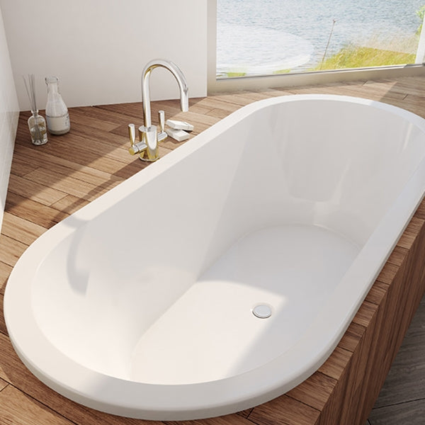 Decina Lido Island Bath 1690 with timber- The Blue Space