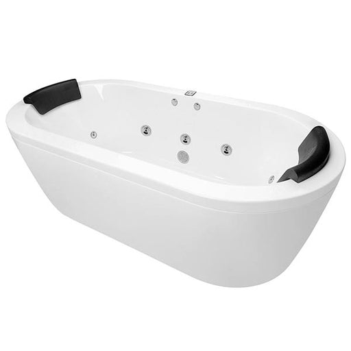 Decina Mintori Contour Freestanding Spa Bath with jets and headrest - The Blue Space